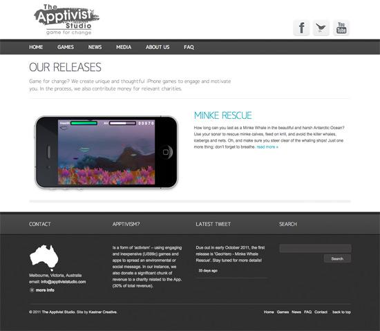 The Apptivist Studio website