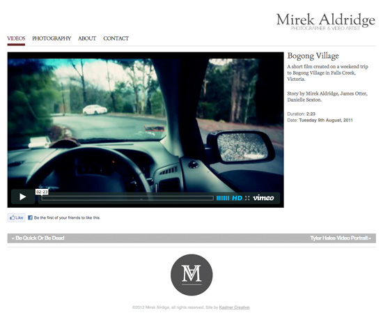 Mirek Aldridge website