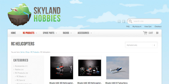 Skyland Hobbies website