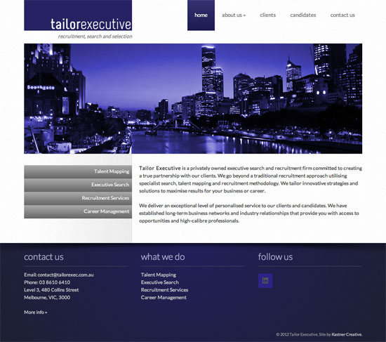 Tailor Executive website