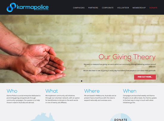 Karma Police website