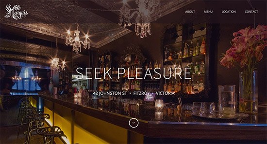 Marquis Bar Website