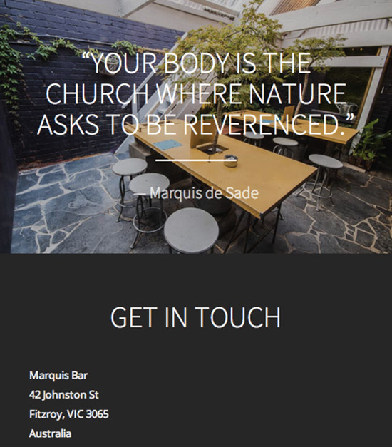 Marquis Bar Website